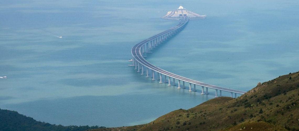 افتتاح  طولانیترین  پل گذرگاه دریایی جهان بین هنگکنگ و چین