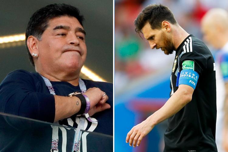 حمله تند مارادونا به مسی؛ او نمیتواند رهبر تیم باشد
