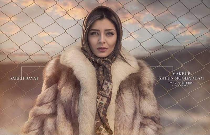 حمله کاربران فضای مجازی به ساره بیات به خاطر پوشیدن پوست روباه !!