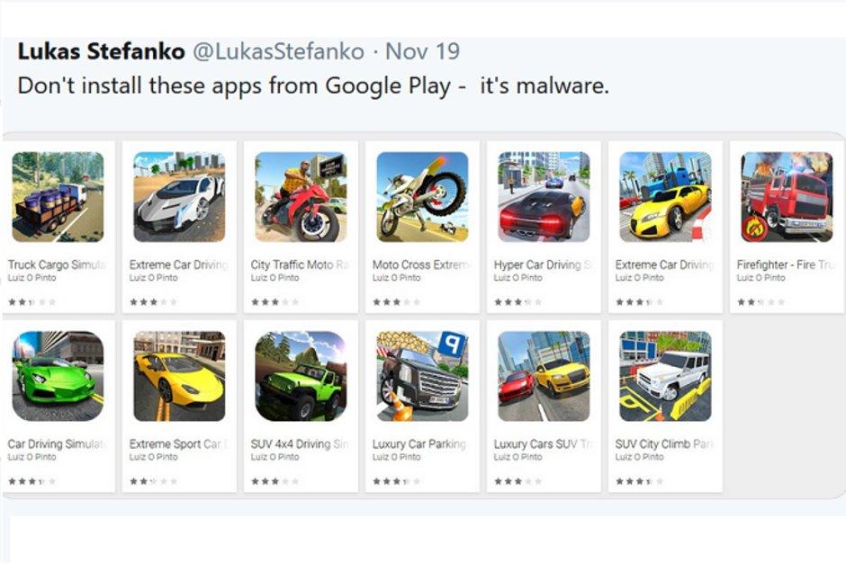 گوگل 13 برنامه مخرب را از Google Play حذف می کند