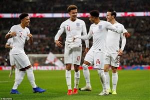 انگلیس 3-0 آمریکا: دسته گلی برای بدرقه رونی