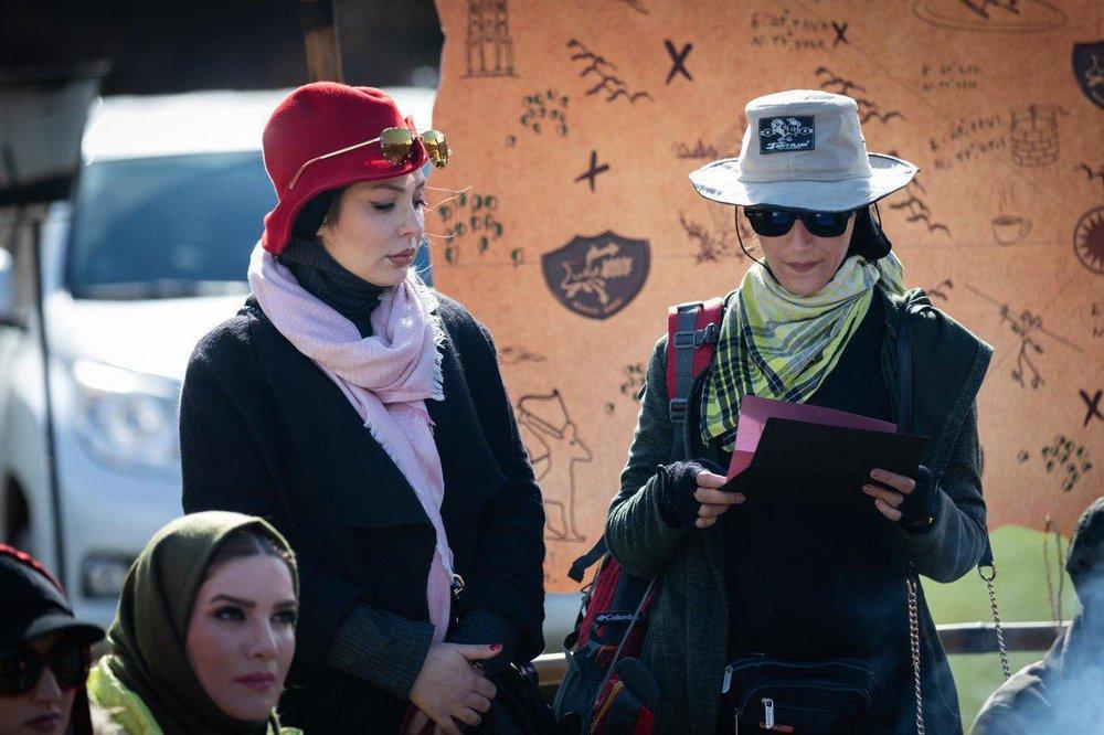 رالی نیوشا ضیغمی و امیرعباس گلاب در کنار بازیگر زن لبنانی (عکس)