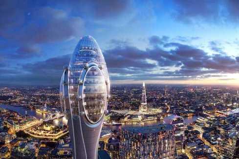 توقف ساخت برج گل لاله لندن