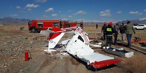 سقوط هواپیما در بهاریه کاشمر خراسان !