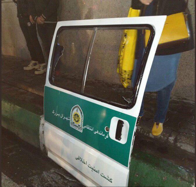 ماجرای شلیک تیر و درگیری ماموران گشت ارشاد در میدان نبوت تهران
