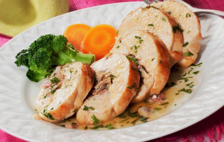 طرز پخت رولت مرغ شکم پر مخصوص